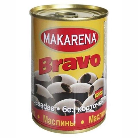 Маслины MAKARENA Bravo черные б/к 314 мл ж/б ИСПАНИЯ