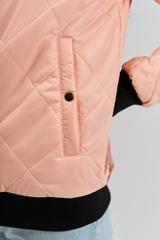 Женский стрит-бомбер персиковый