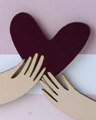 Открытка «Люблю!», 9,5×13,3 см