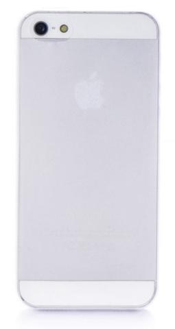Чехол накладка Gurdini iPhone 5/5S/SE пластик ультратонкий 0.2 прозрачный