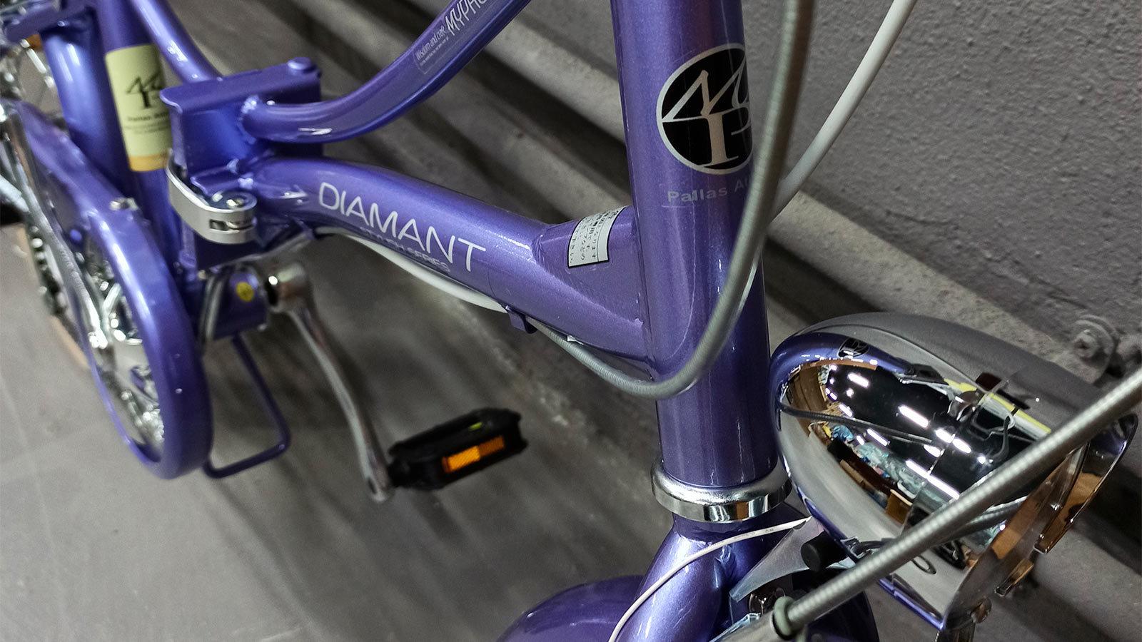 рама и рулевая стойка складного велосипеда