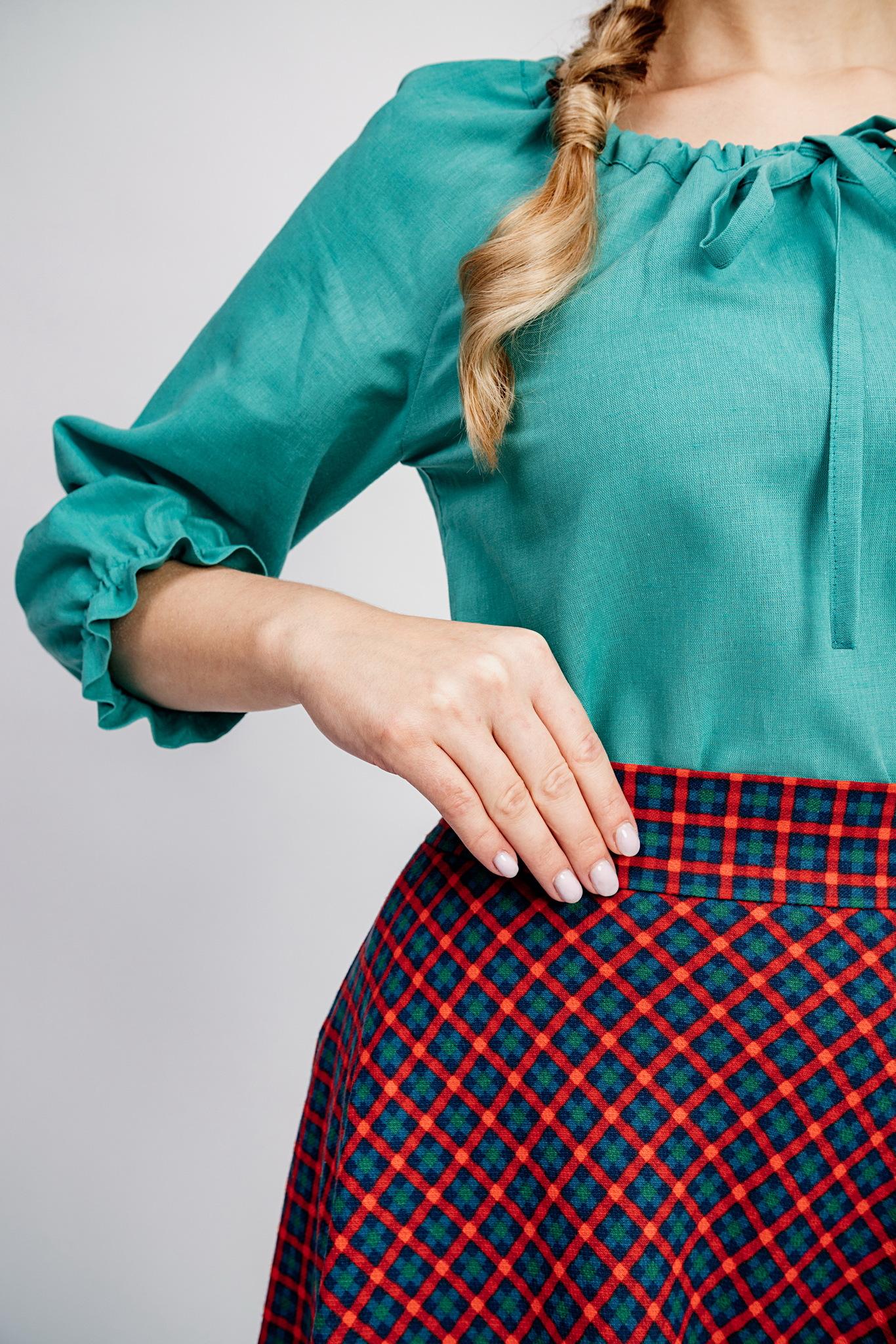 Теплая юбка на резинке
