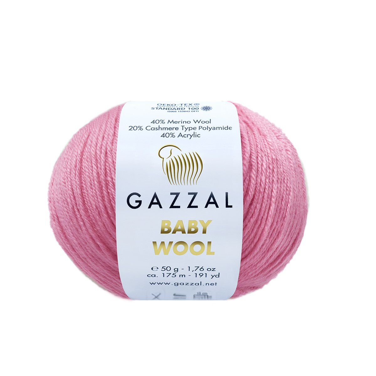 Пряжа Gazzal Baby Wool 828 розовый