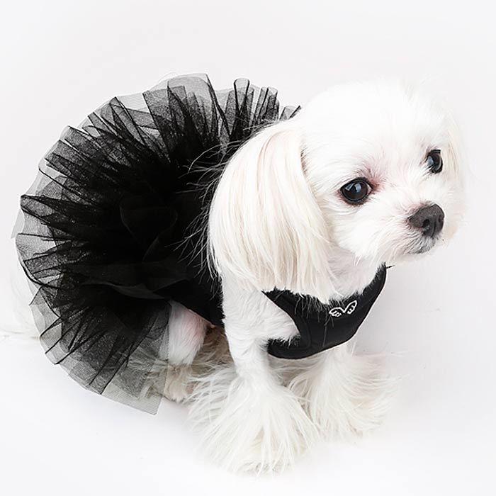 вечернее платье для собак с пышной юбкой