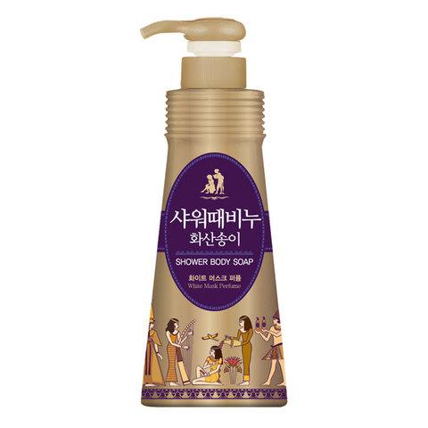 Mukunghwa Бессульфатный, парфюмированный гель для душа White Musk Perfume Shower Body Soap
