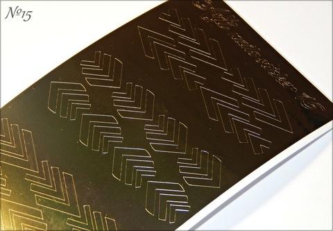 Металлизированные наклейки Arti nails Stiker цвет золото №15 купить за 100руб