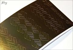 Металлизированные наклейки Arti nails Stiker цвет золото №15