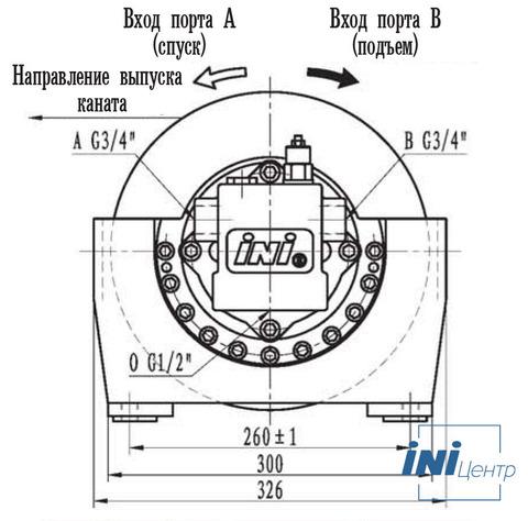 Эвакуационная лебедка IYJ2-10-100-8-ZPNE