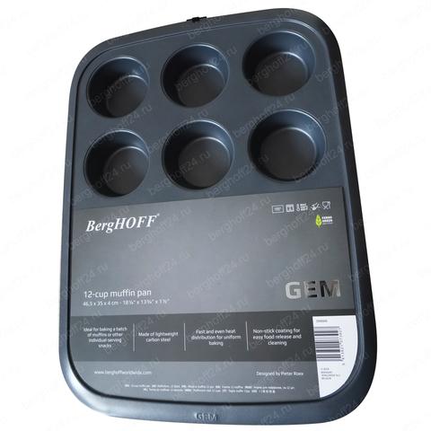 Форма для выпечки 12 маффионов Gem