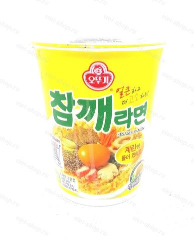 Корейская лапша со вкусом говядины и кунжута, Оттоги (Ottogi), 65 гр.