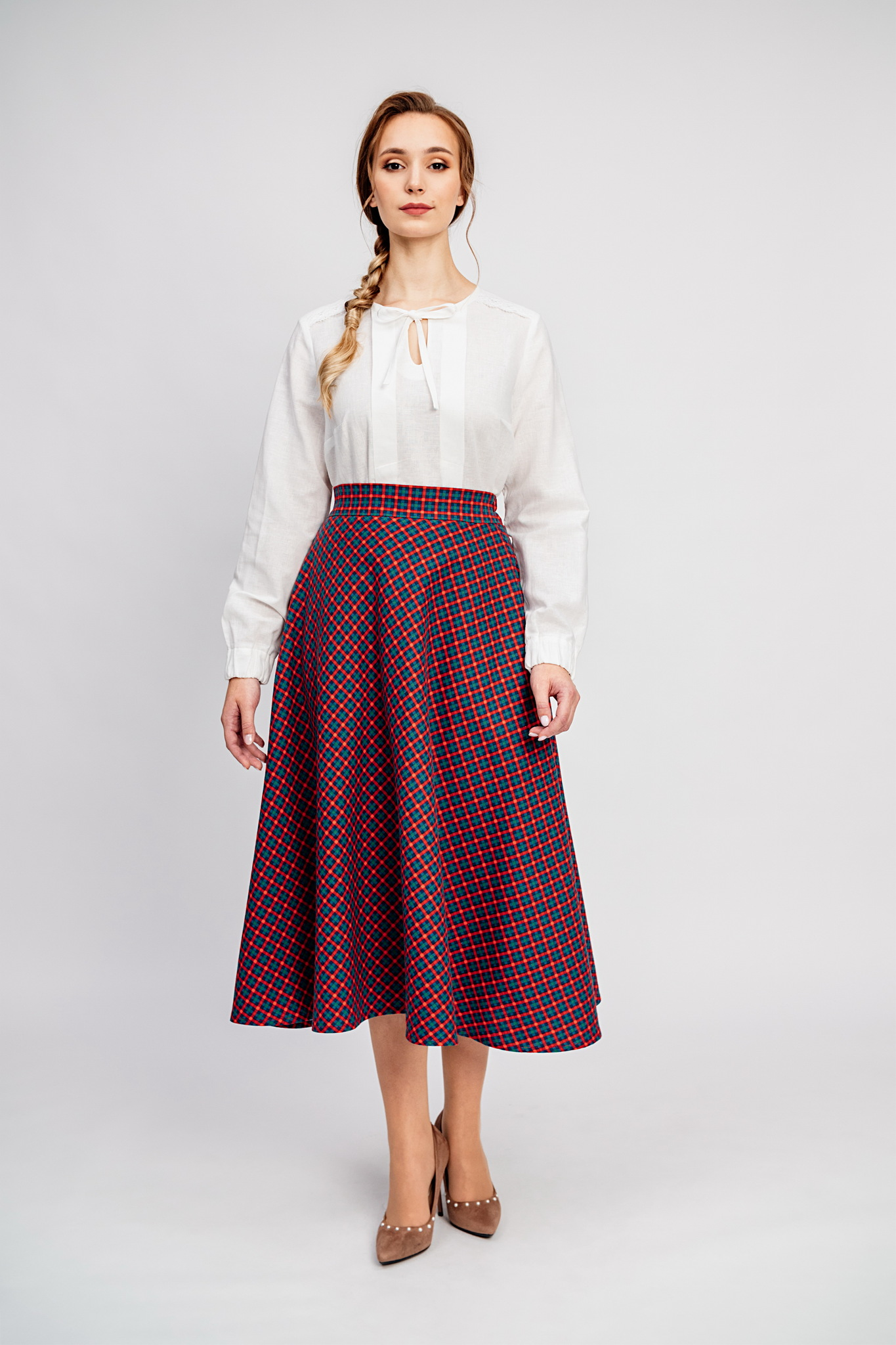 Тёплая юбка на зиму