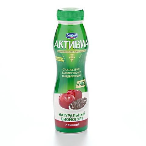 Йогурт питьевой АКТИВИЯ Вишня Семена Чиа 270 г Danone КАЗАХСТАН