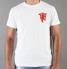 Футболка с принтом FC Manchester United (ФК Манчестер Юнайтед) белая 0021