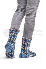 Женские носки вязаные теплые джурабы 0121