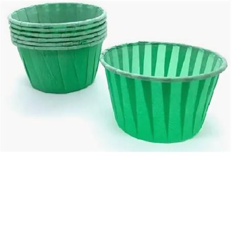 Капсул усиленные для капкейков зеленые, 50*40мм, 20шт
