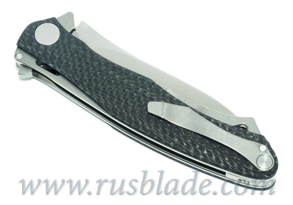 CKF Trekoza Carbon Fiber double inlay Knife Limited - фотография
