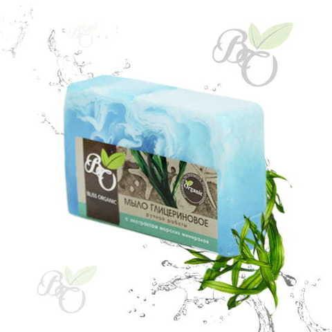 Глицериновое мыло ручной работы «Морские минералы», Bliss organic 100 гр
