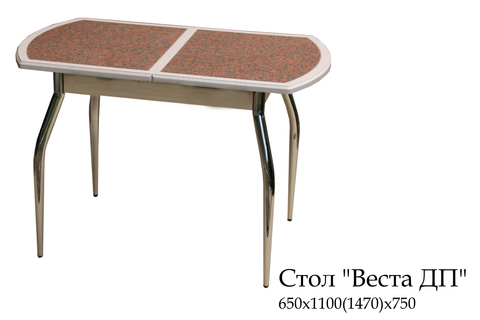 Обеденный раздвижной стол из мдф и кухонного пластика Веста ДП