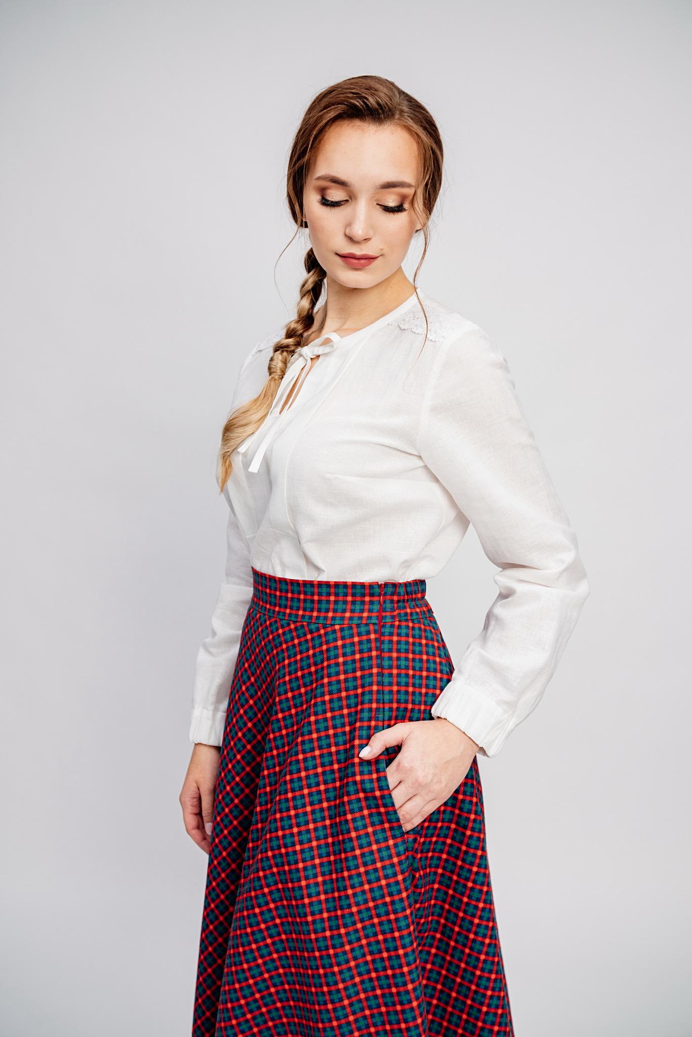 Теплая зимняя юбка большой размер