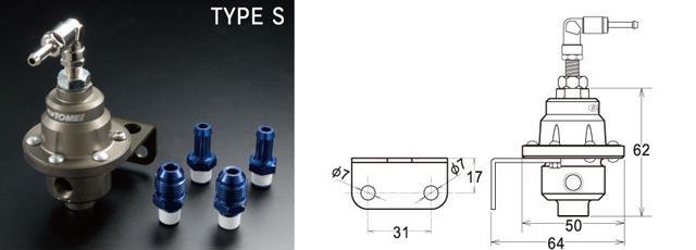 TOMEI Type S Регулятор давления топлива+манометр   Adjustable Fuel Pressure Regulator