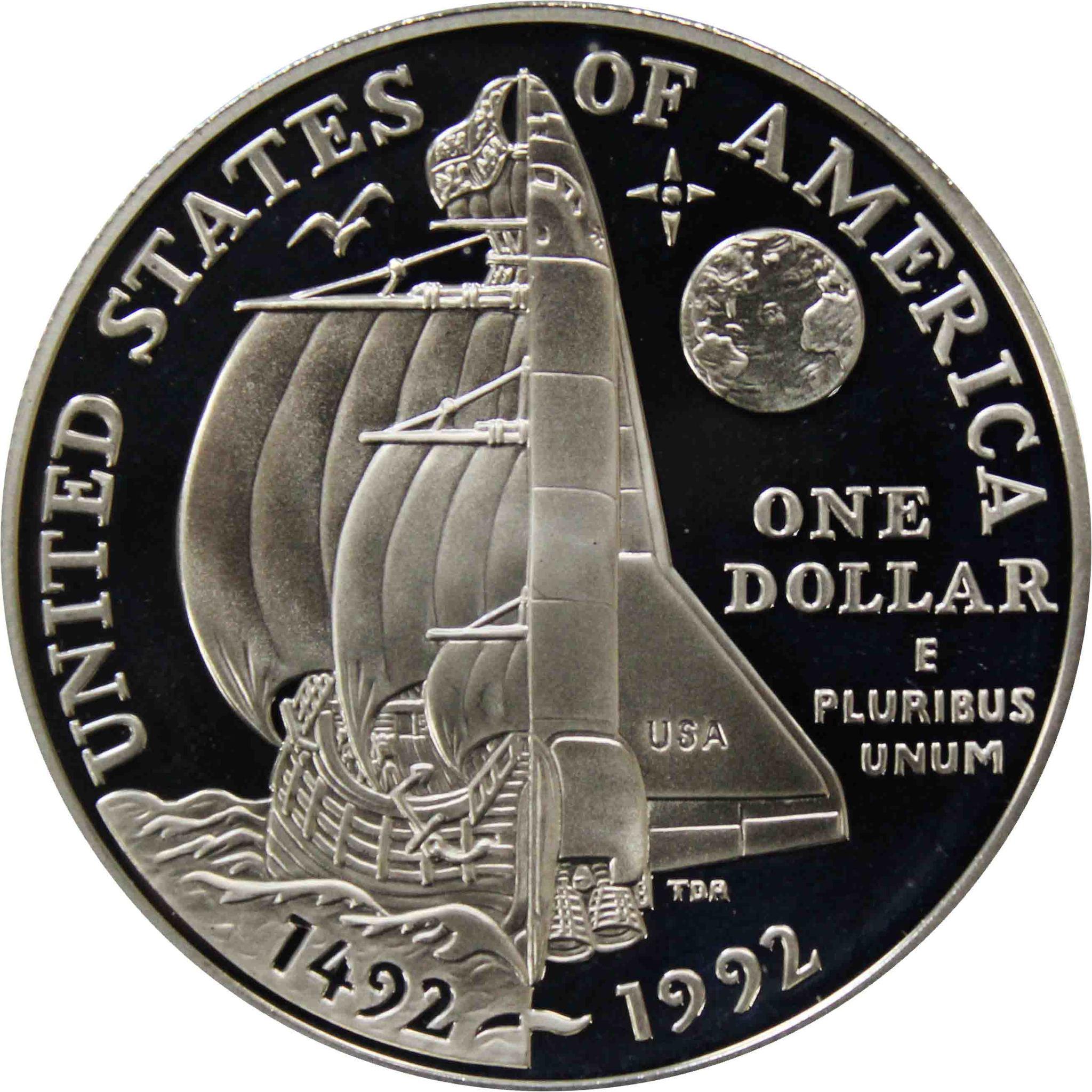1 доллар США 1992 год P (Колумб)