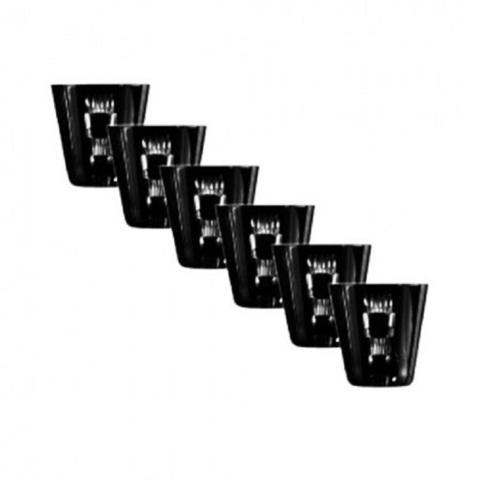 Набор из 6-х стопок для ликера Liquor, 70 мл, артикул 65687. Серия Retro Black