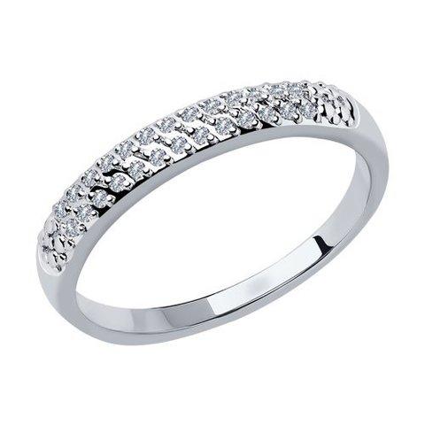1011799 - Кольцо из белого золота с бриллиантами