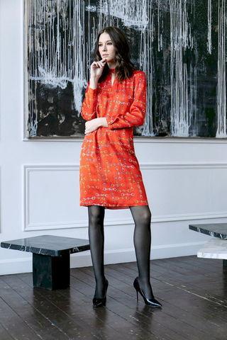 Фото платье с вырезом на горловине спереди и сзади - Платье З484-153 (1)