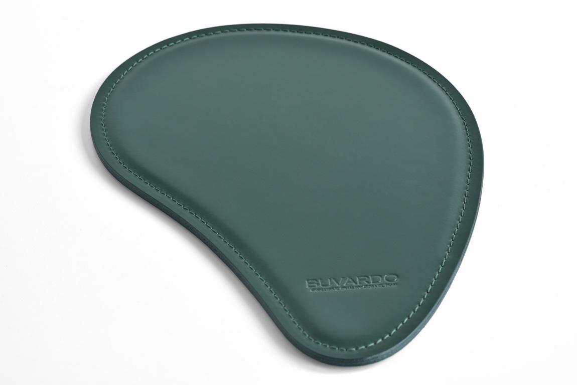 зеленый коврик для мыши из кожи