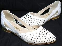 Балетки босоножки с закрытой пяткой и закрытым носком El Passo sy9002-2 Sport Black-White.