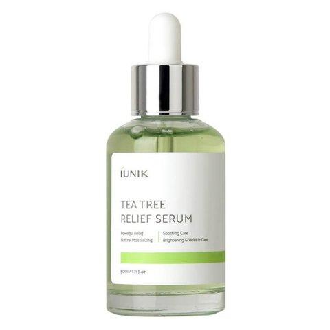 Миниатюра сыворотки с чайным деревом для проблемной кожи iUnik Tea Tree Relief Serum