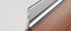 Стальной плинтус Progress Profiles BTAC 40А*2000 мм полированная нержавеющая сталь с клеящим веществом