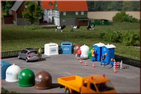 Биотуалеты и мусорные контейнеры