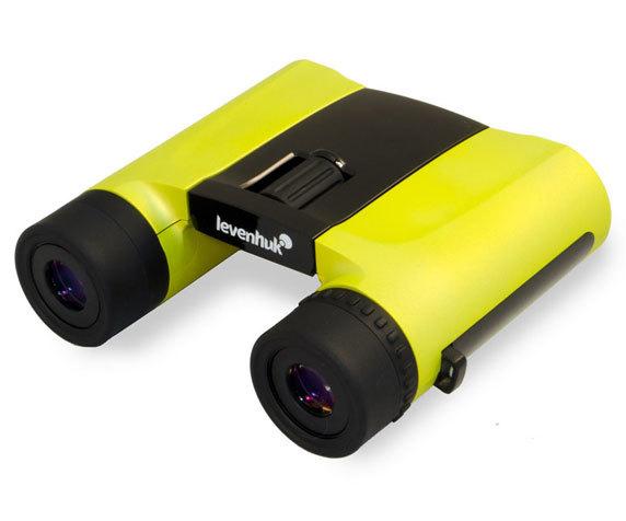 Удобные окуляры и колесо фокусировки Levenhuk Rainbow 8x25, Lemon
