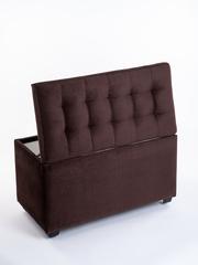 Пф-800-Я Пуфик квадратный (коричневый) с ящиком для хранения