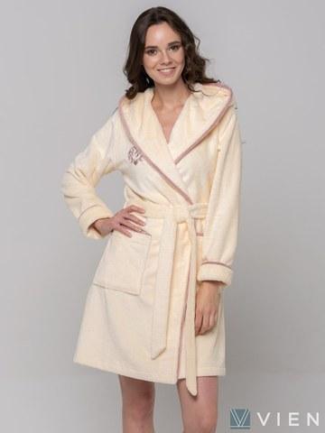 Короткий бамбуковый женский халат Juliette Light (EFW)