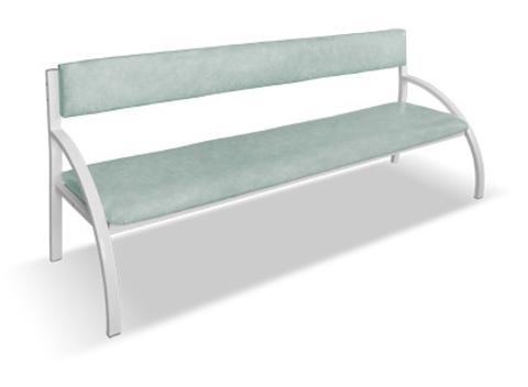 Банкетка со спинкой - диван 3-местная - фото