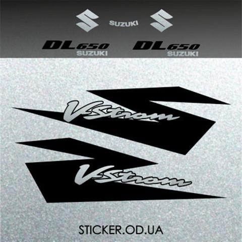 Набор виниловых наклеек на мотоцикл SUZUKI DL650 V-STROM, 2005