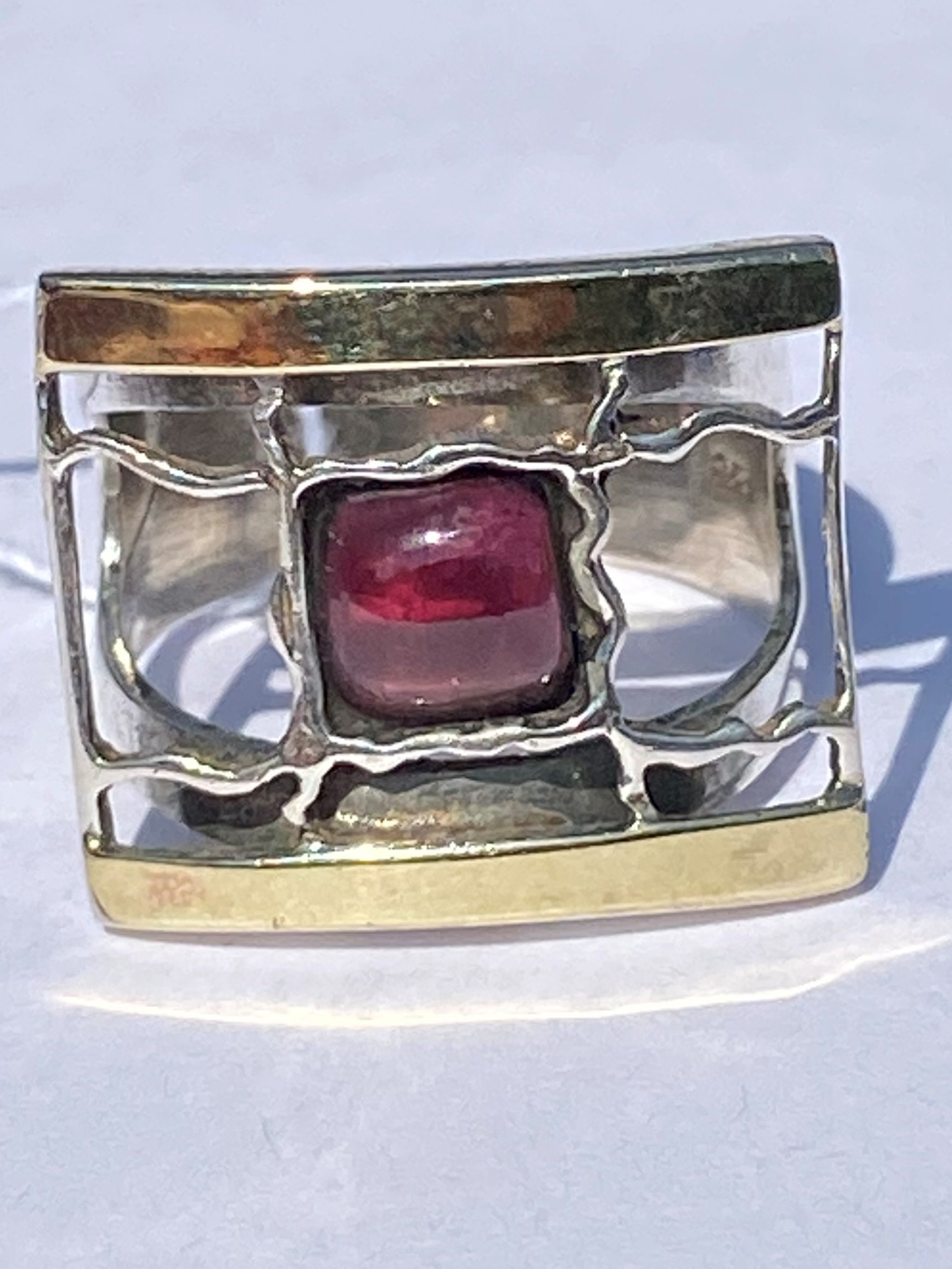 Гранат 1506 (кольцо из серебра/золота)