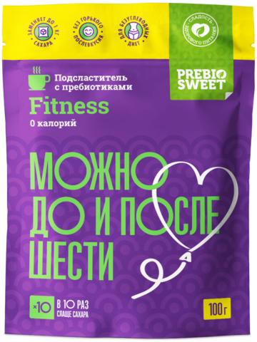 Сахарозаменитель Prebiosweet Fitness, пакет 100 г