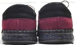 Кожаные мужские туфли без каблука модный кэжуал Luciano Bellini 91267-S-321 Red.