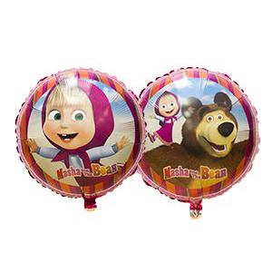 Фольгированный шар Маша и Медведь 18