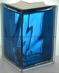 Угловой стеклоблок синий окрашенный изнутри Vitrablok 19x13x13x8