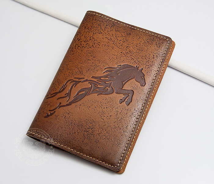 BY14-09-08 Оригинальная обложка для паспорта «Огненный Конь»