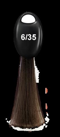 OLLIN N-JOY  6/35 – темно-русый золотисто-махагоновый, перманентная крем-краска для волос 100мл