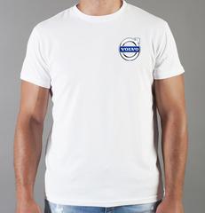 Футболка с принтом Вольво (Volvo) белая 008