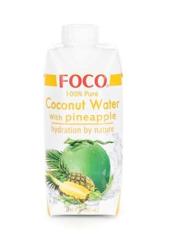 Кокосовая вода с соком ананаса FOCO   330мл.