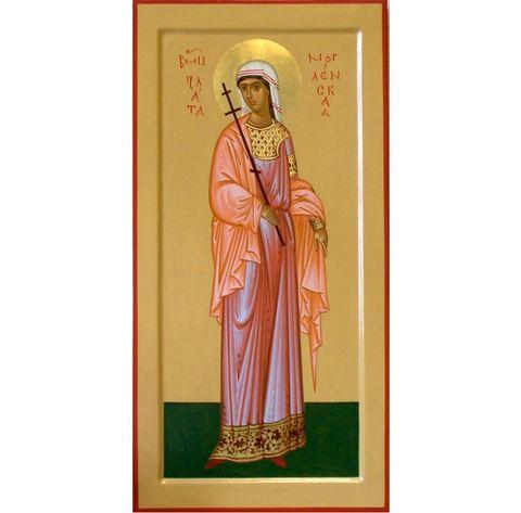 Деревянная икона святой Златы мерная ростовая на левкасе мастерская Иконный Дом