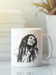 Кружка с рисунком Боб Марли (Bob Marley) белая 001