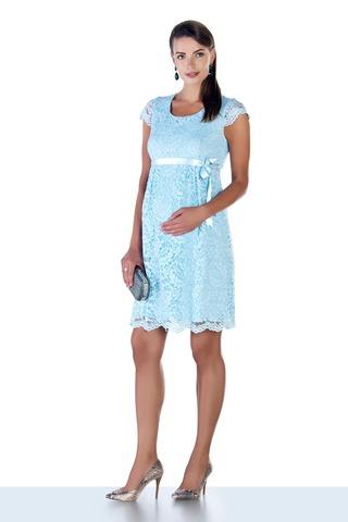 Платье для беременных 03718 голубой